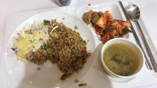 釜山外国語大学寮の食事1