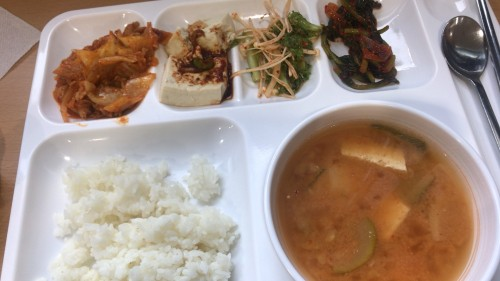 釜山外国語大学寮の食事10