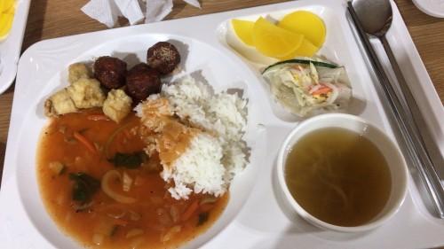 釜山外国語大学寮の食事13