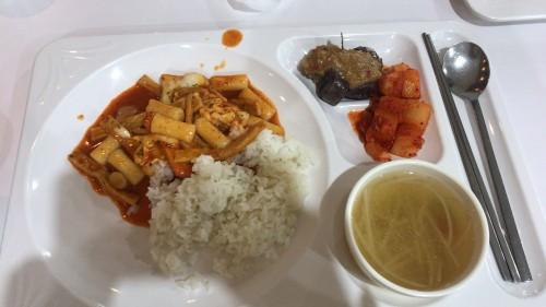 釜山外国語大学寮の食事2