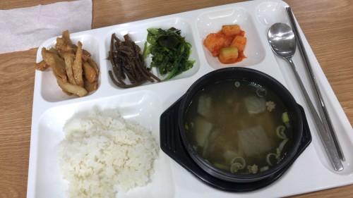 釜山外国語大学寮の食事5