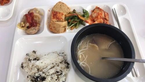 釜山外国語大学寮の食事12