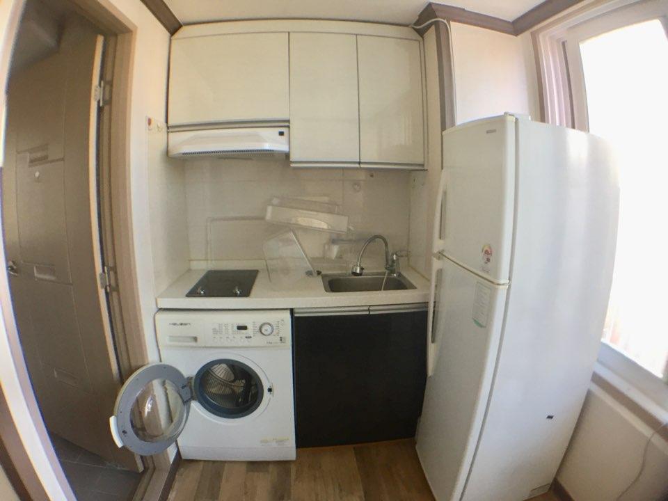 キッチン、冷蔵庫、洗濯機